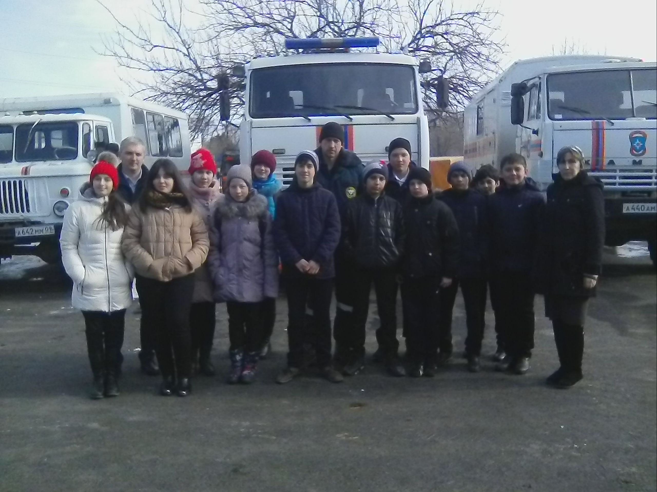Экскурсия на базу МЧС России по г.Черкесску.